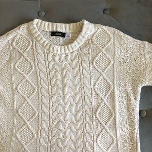 UO cream knit sweater